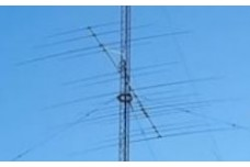 JK-Big-Tri - Yagi antenna of 4 elements on 20 m, 5 elements on 15 m and 7 elements on 10 m