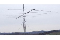 JK-Quattro - Yagi antenna of 3 elements on 17 m, 4 elements on 15 m, 2 elements on 12 m and 4 elements on 10 m