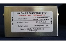 W3NQN Design mono band Cauer Elliptical filter for the 10 meters band by K7MI