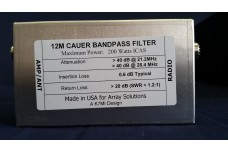 W3NQN Design mono band Cauer Elliptical filter for the 12 meters band by K7MI