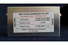 W3NQN Design mono band Cauer Elliptical filter for the 15 meters band by K7MI