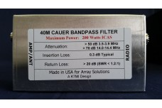 W3NQN Design mono band Cauer Elliptical filter the 40 meters band by K7MI