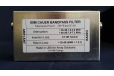 W3NQN Design mono band Cauer Elliptical filter the 80 meters band by K7MI