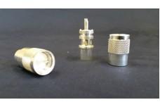 PL-259 Silver / Teflon RF connectors QTY 10 for RG-8, RG-213 RG-214, Belden 9913, Belden 9913F7, LMR-400 coaxial cables.
