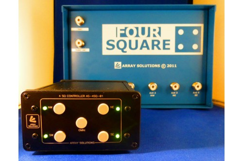 Four Square Vertical Antenna Phased Array Control System for