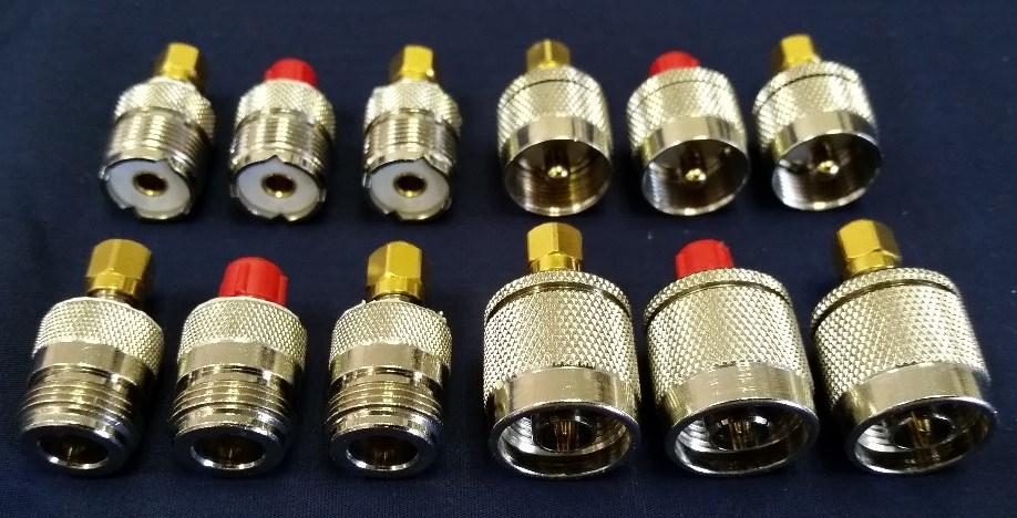 Complete set of calibration loads with N-type and