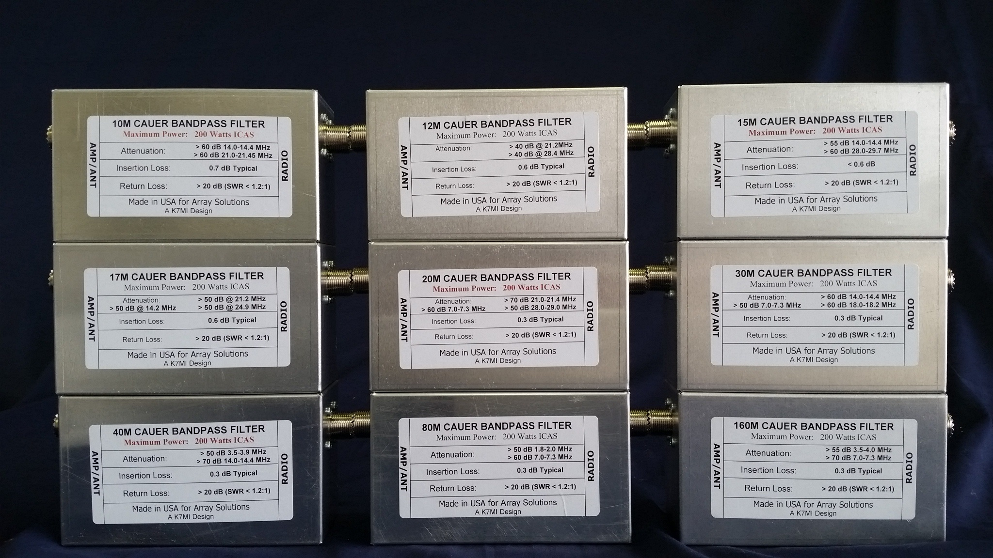 W3nqn Design Set Of Six Cauer Elliptical Filters For 160 80 40 20 Band Pass Pic Any These Above