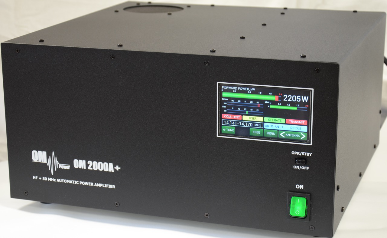 Om2000a Automatic Hf And 6 Meters 2000 W Power Output Amplifier 1500 Watt High Full Qsk Ready The Linear