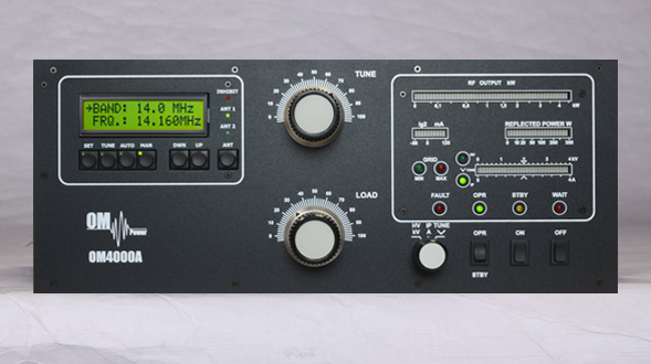 OM4000A, automatic 4 kW+ output HF linear amplifier