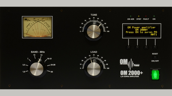 OM-2000+ MARS HF and 6 m linear amplifier for ham radio